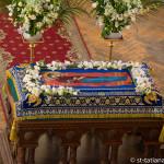 Успение Пресвятой Богородицы. Прихожане храма на праздничной Божественной литургии